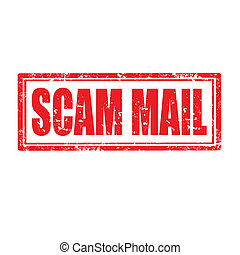 Scam Mail-stamp - Grunge rubber stamp with text Scam...