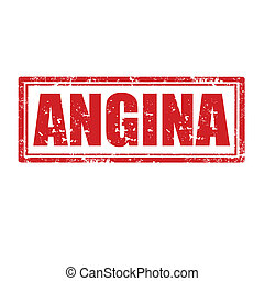 Angina-stamp - Grunge rubber stamp with word Angina,vector...