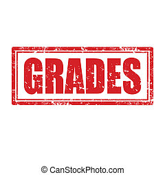 Grades-stamp - Grunge rubber stamp with word Grades,vector...