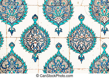 Ceramic plates from the Topkapi palace in Istanbul - Ancient...