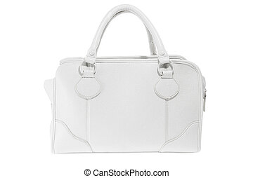 Preview ladies fashionable white leather handbag - a Preview...