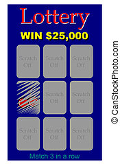 Lottery ticket - A scratch off lottery ticket