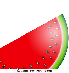 Watermelon Icon Vector Illustration