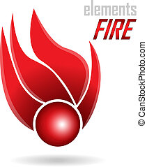 Abstract Icon - Fire element. You can use in the creative...