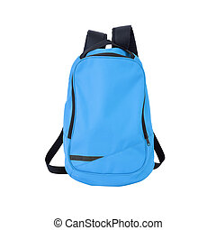 Blue backpack isolated with path - A high-resolution image...