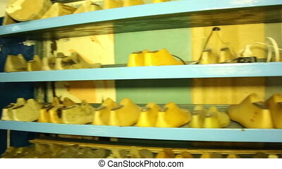 Shoe pads on the shelves
