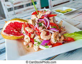 Mexican seafood ceviche