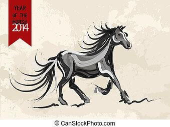 Chinese New Year of horse 2014