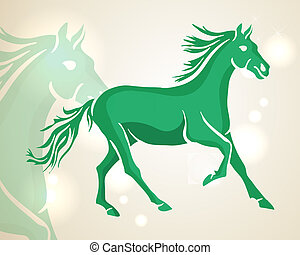 Chinese New Year 2014 green running horse - Chinese New Year...