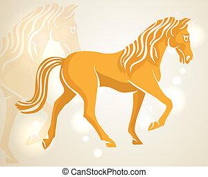 Chinese New Year 2014 walking horse