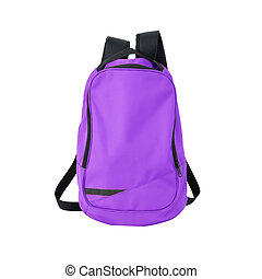 Purple backpack isolated with path - A high-resolution image...