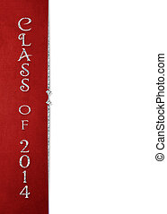 class of 2014 red border - Red border with silver divider...
