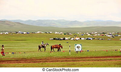 Medieval Horse Archer Shows, Mongolia - Mangudai, Mongolian...