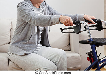 Disabled standing up
