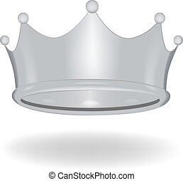 Cartoon crown isolated