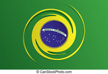 Abstract Flag of Brazil - Creative Abstract Flag of Brazil...
