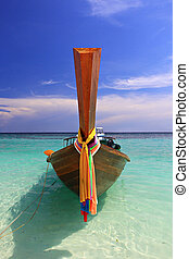 Andaman longtail boat Aonang Krabi Thailand