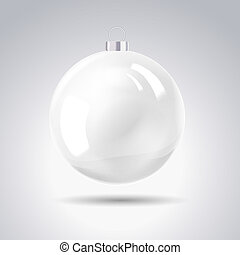 Sphere christmas ball. Vector illustration.