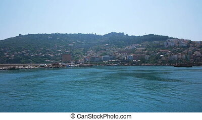Summer view of bay of Alanya, Turkey - Sunny day at...