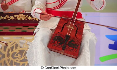 Morin Khuur, Mongolian bowed stringed instrument. - Music...