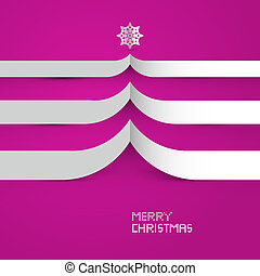 Pink Abstract Vector Merry Christmas Background