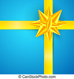 Blue, Gold Abstract Vector Merry Christmas Background