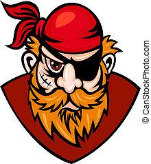 Danger buccaneer - Head of danger buccaneer in cartoon...