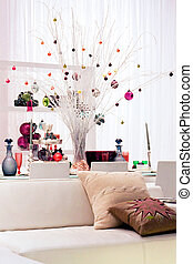 Home decor with pendants for Christmas holidays