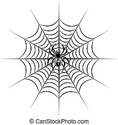 Spider on web - spider on web for in tribal style for...
