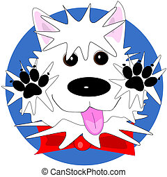 Happy westie - A very happy West Highland White Terrier that...