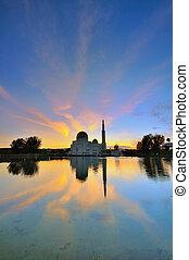 Assalam Mosque during sunrise
