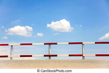 traffic fence - dangerous traffic fence beside street with...