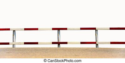 traffic fence - dangerous traffic fence beside street for...