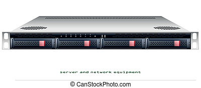 Server rackmount chassis vector graphic illustration