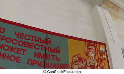 Campaign posters on the wall