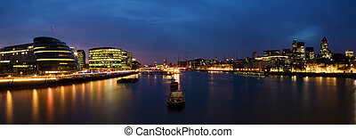 City of London panorama - London skyline at twilight...