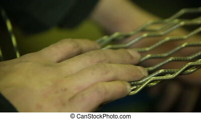 Wire for production of prison bars and fences criminals