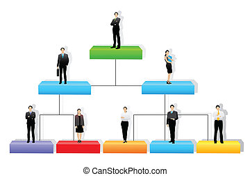 Vector Organisation Tree - easy to edit vector illustration...