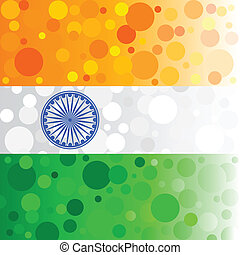 Bubbly Indian Background - easy to edit vector illustration...
