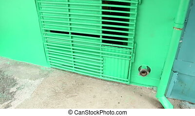 Prison iron door with bars