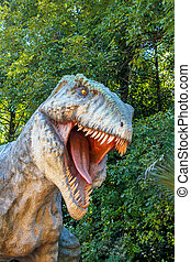 model of big tyranosaurus rex jungle - model of big...