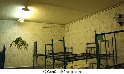 The prison bunks