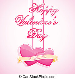 Love Background - easy to edit vector illustration of love...