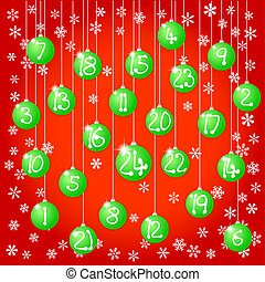 christmas baubles - vector illustration of an advent...