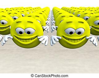 Lots Of Happy Cartoon Men - Lots of happy cartoon men for...