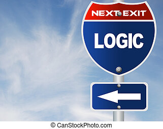 Logic road sign