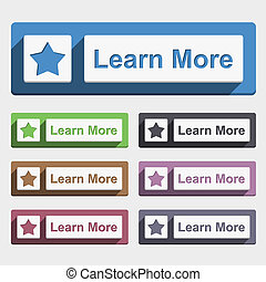 Learn More Button - Learn more button, flat design, vector...