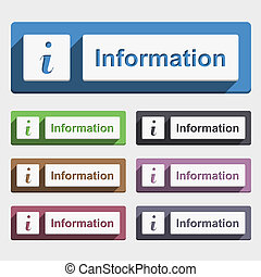 Information Button - Information button, flat design, vector...