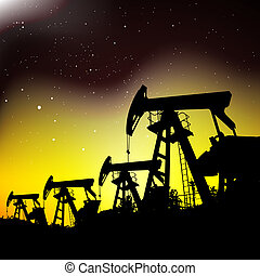 Oil pump jack - Oil pump jack silhouette design illustration...