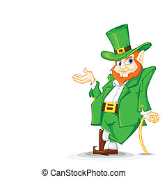 Laprachun on Saint Patrick's Day - easy to edit vector...